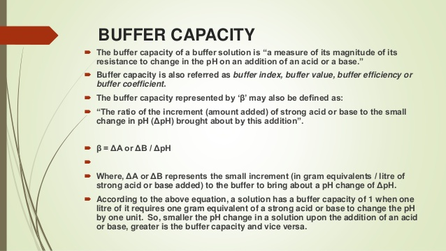 Buffer Capacity Chemistry Definition and Formula