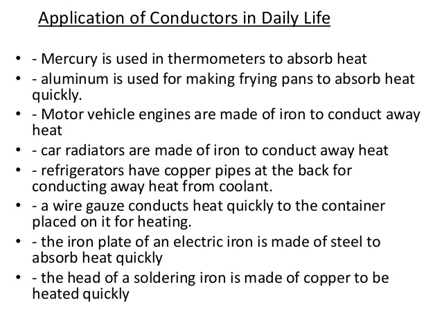 12 Uses Of Conductors In Daily Life Types Az Chemistry